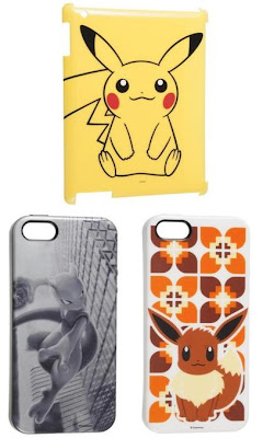 Pikachu iPad Hard Jacket, Mewtwo Eevee iPhone 5 Soft Jacket PokeCenJP