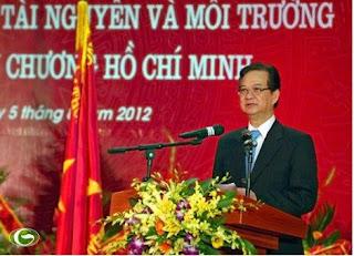 Thủ tướng Nguyễn Tấn Dũng: Ngành Tài nguyên và Môi trường phải thực sự là ngành trụ cột của phát triển bền vững, trụ cột của việc khai thác tiềm năng và thế mạnh của đất nước cho sự phát triển