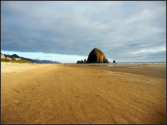Haystack Rock on Cannon Beach in Oregon