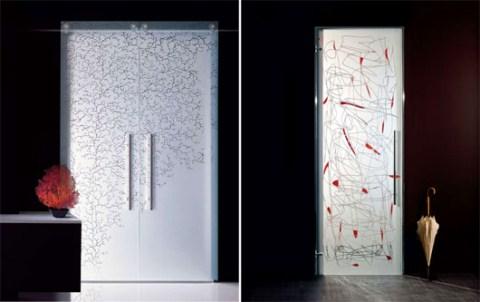 Decoraciones y modernidades decora con modernas puertas for Puertas de cristal modernas