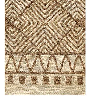 Geometric Natural Abaca Rugs