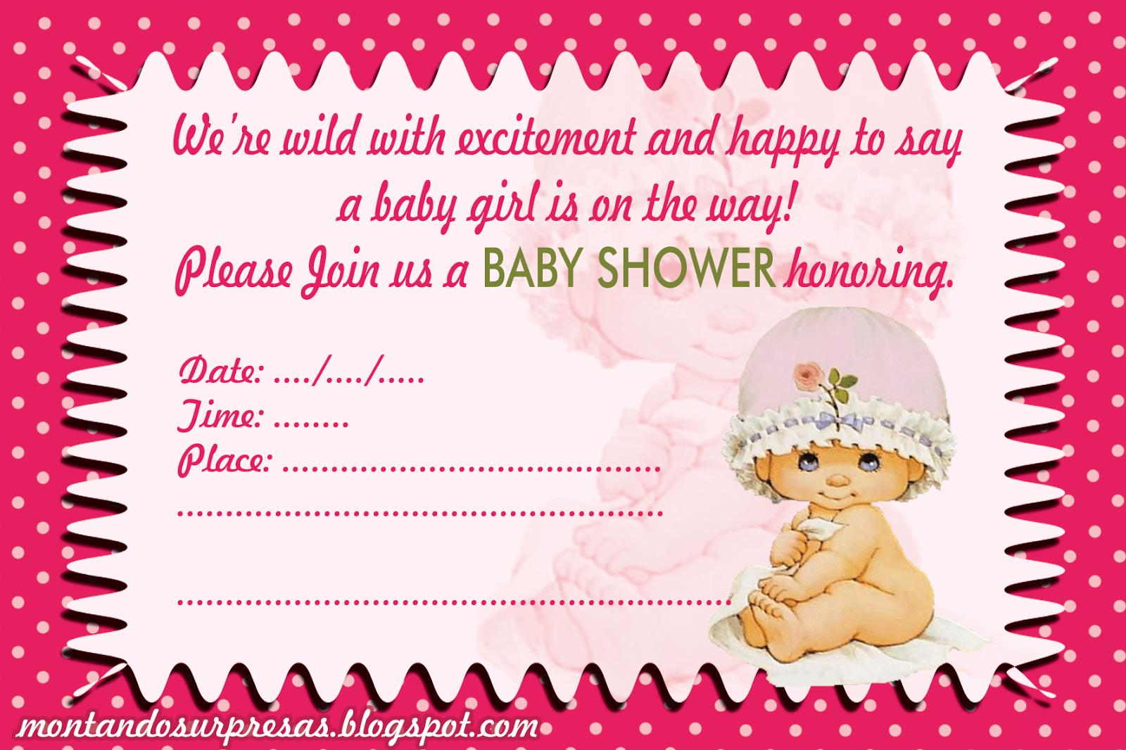Montando Surpresas: Baby Shower invite to download free