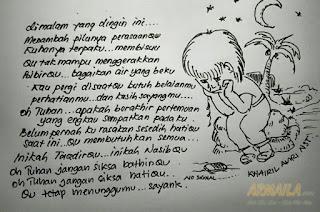 armaila.com - Lukisan Karya Khairil Amri Nasution - Malam Yang Dingin