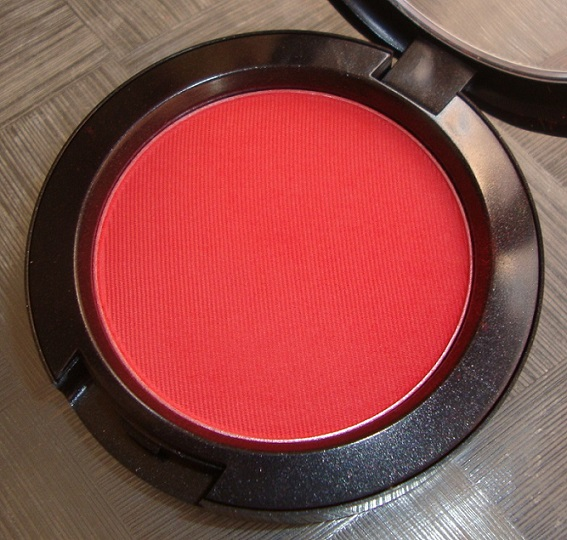 MAC+FranklyScarlet+Blush+Swatch+Review