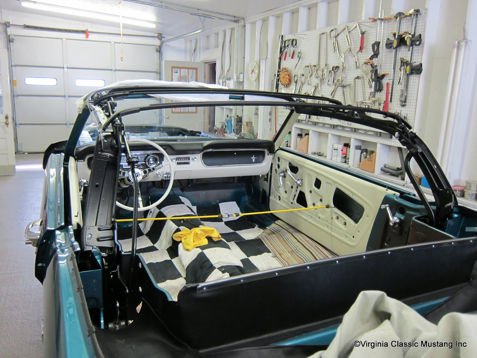Virginia classic mustang blog just the details1965 mustang the mustang convertible top frame is detailed and in place virginiaclassicmustang publicscrutiny Choice Image