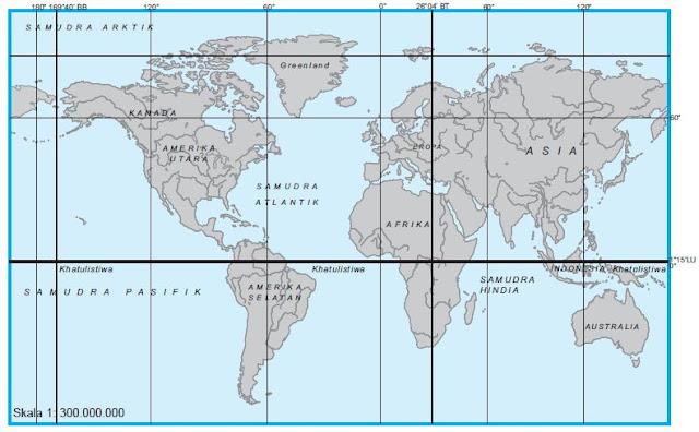 Posisi Benua dan Samudra di Muka Bumi