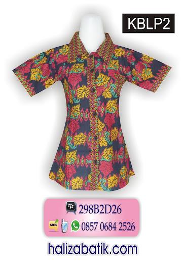 085706842526 INDOSAT, Batik Model Terbaru, Atasan Batik Modern, Baju Batik, KBLP2, http://grosirbatik-pekalongan.com/blus-kblp2/