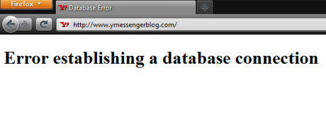 YMessengerBlog.Com Database establishing a database connection