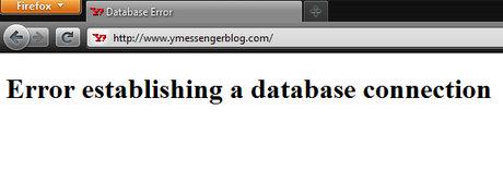 YMessengerBlog.Com Database establishing a database connection