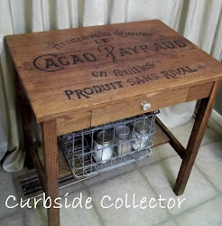 French Chocolate Crate Table