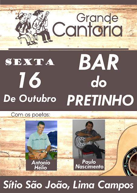 """CANTORIA NO BAR DO """"PRETINHO"""""""