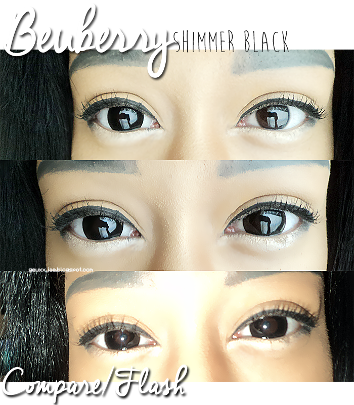 Beuberry Shimmer Black colored contact
