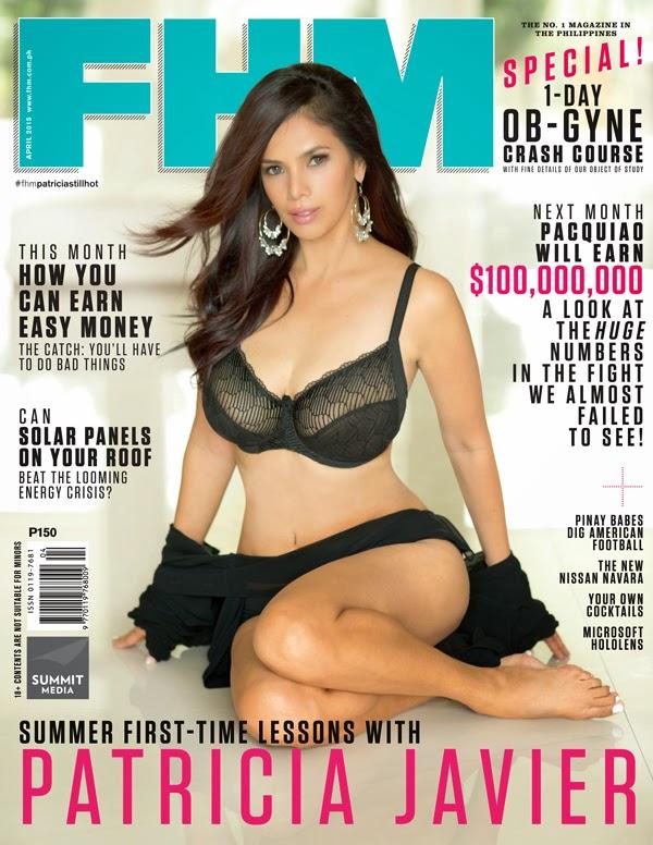 Patricia Javier FHM April 2015 Cover Girl