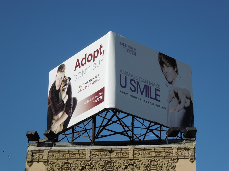 PETA celeb pet adoption billboard