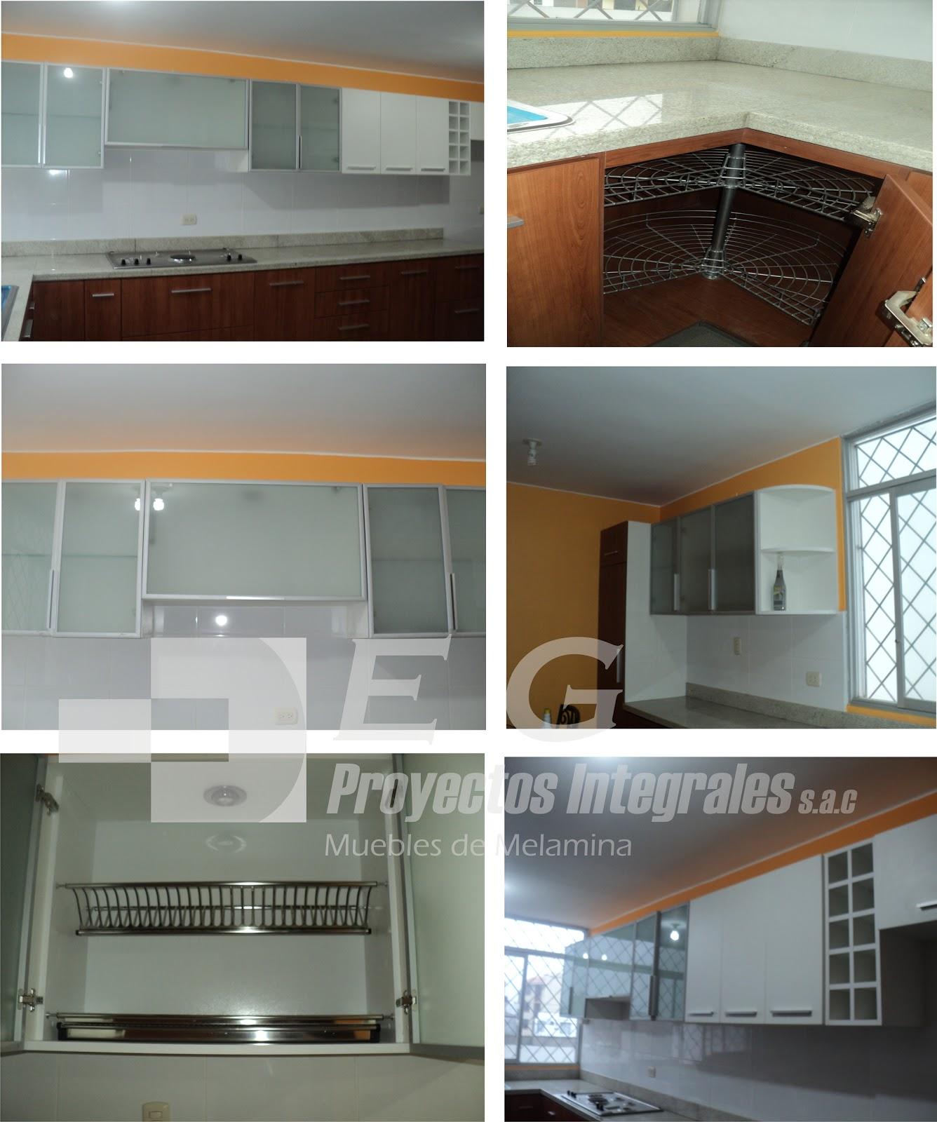 E y g proyectos integrales muebles en melamina aluminio for Muebles de cocina de aluminio