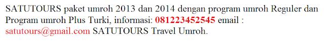 Info Paket Travel Umroh Januari 2014