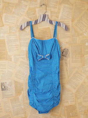 bañador vintage, azul