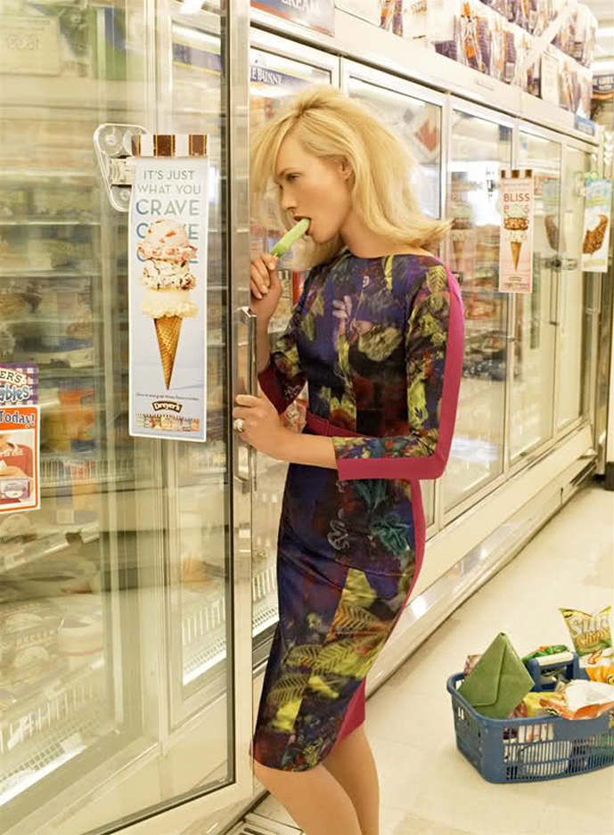 ice cream fashion editorials / Vogue US September 2008 (photography: Steven Meisel) / via fashioned by love