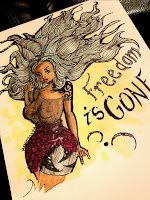 Black beauty, black pin up, black beauty illustration, freedom is gone, black woman illustration, roses, hair doodling, doodle, tattoo