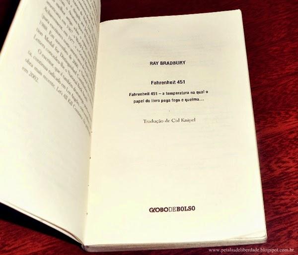 Resenha, premiada, livro, Fahrenheit 451, Ray Bradbury, resumo, crítica, trechos, sorteio, edição de bolso, capa, Editora Globo, globodebolso