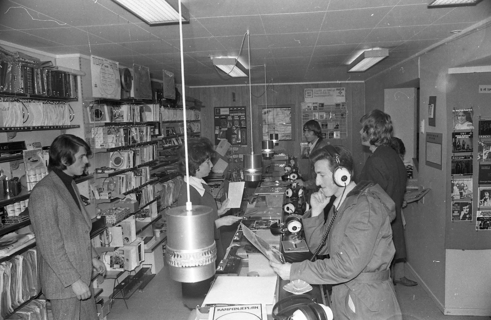 Bilderesultat for platebutikker 70 tallet