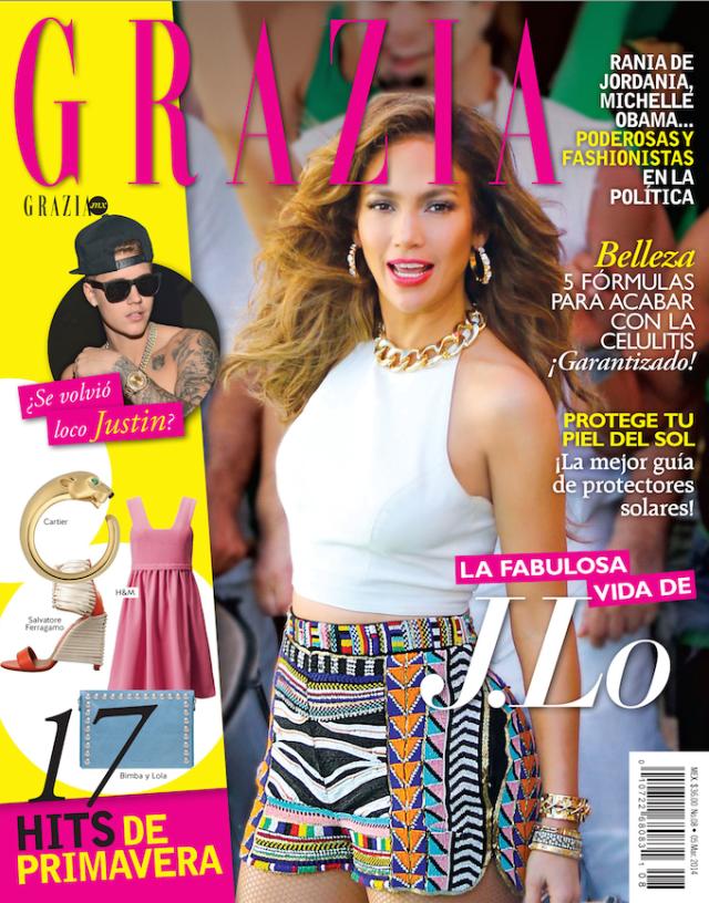 Jennifer López en Grazia Magazine marzo 2014