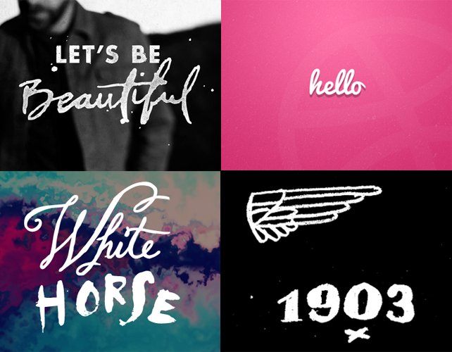 Graphic design inspiration on Dribbble