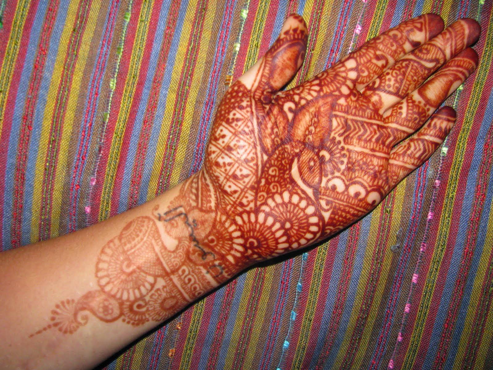 Henna Tattoos on Hands