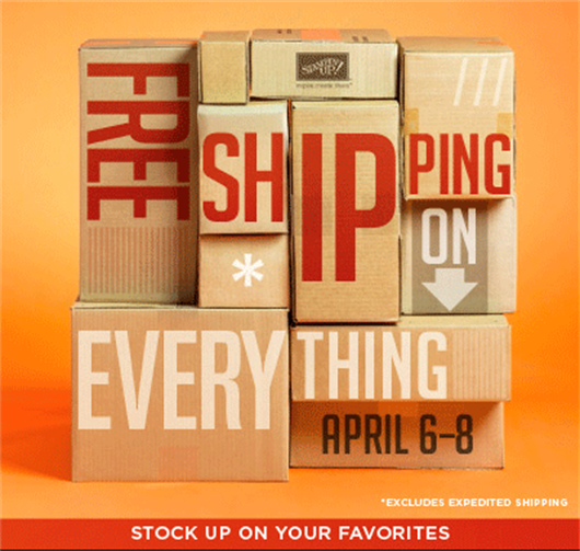 Stampin' Up! Free Shipping Offer