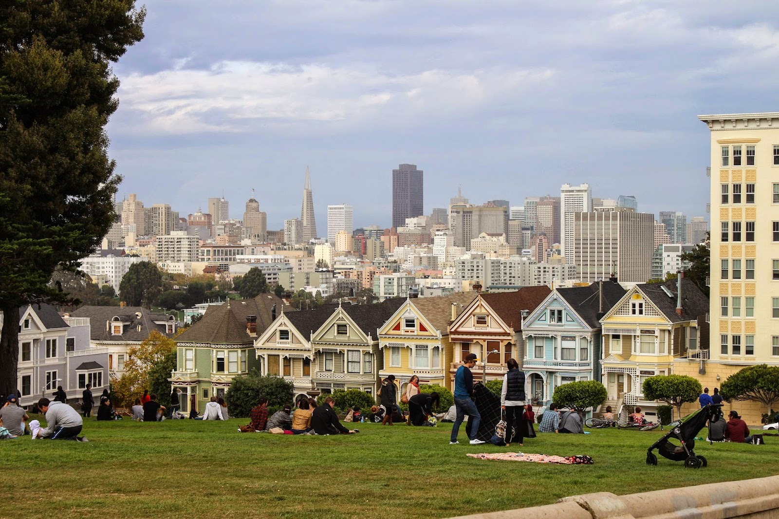 Painted ladies at Alamo Square