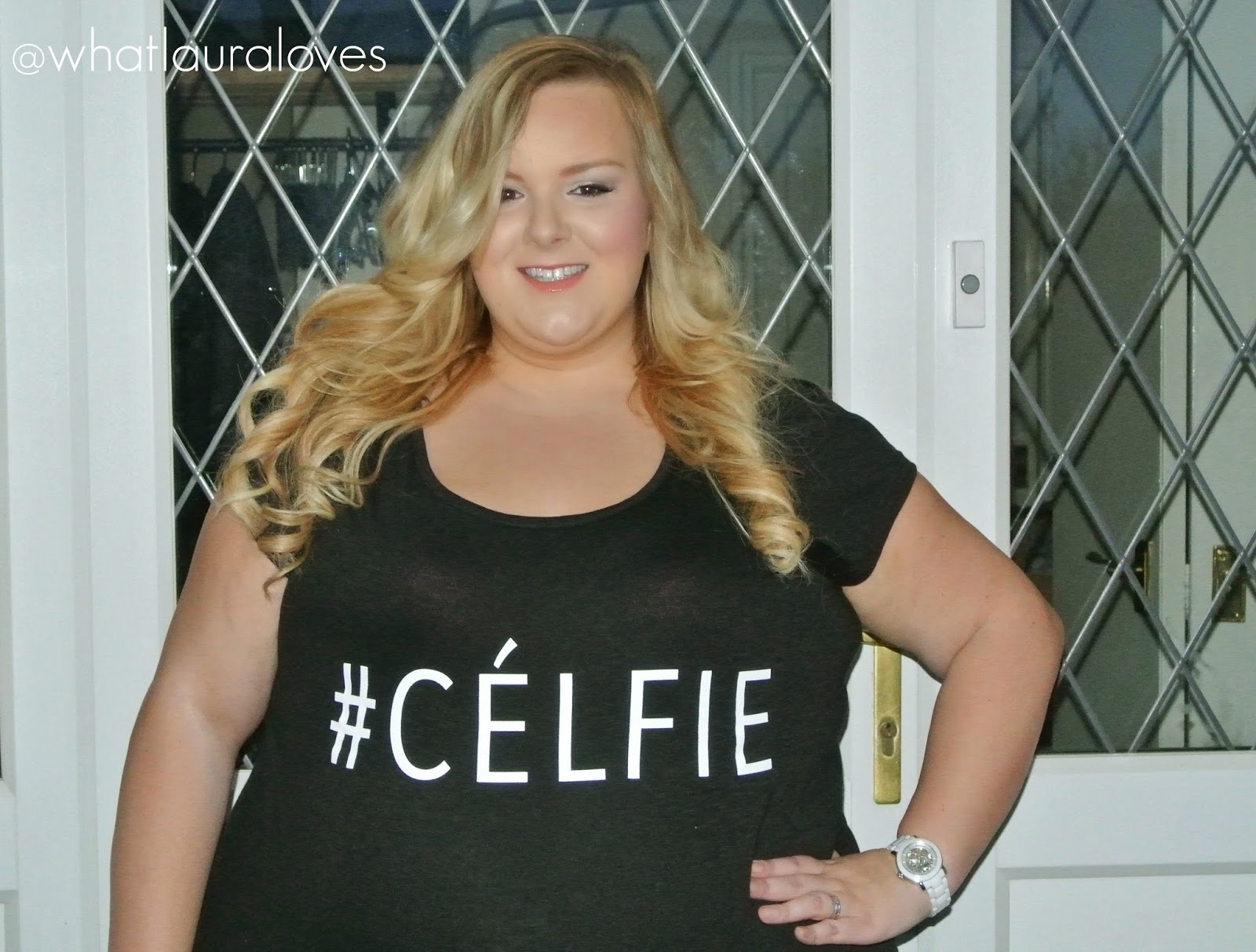 Plus Size #Celfie Slogan T Shirt Top Tee Yours Clothing WhatLauraLoves