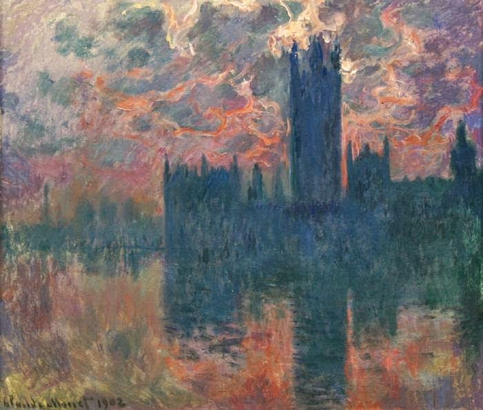 Claude Monet Le Parlement, soleil couchant. 1902 Cristie's. 2005