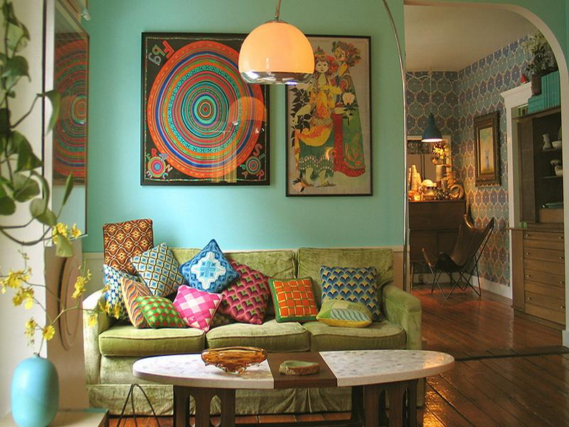 Stylish Vintage Living Room, Furniture And Accessories, Vintage Homes Decor