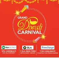 Grand Diwali Healthkart With Extra 10% off & Get Rs.100 FreeCharge, One Free Ola Ride & 10% CB on Ola Money