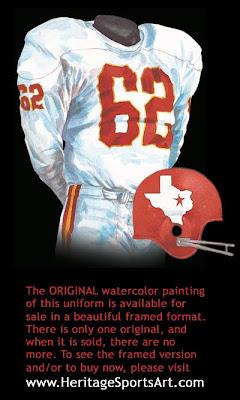 Dallas Texans 1962 uniform - Kansas City Chiefs 1962 uniform