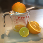 Image of juicing orange, lemon and lime for Citrus and Maple Glazed Tempeh
