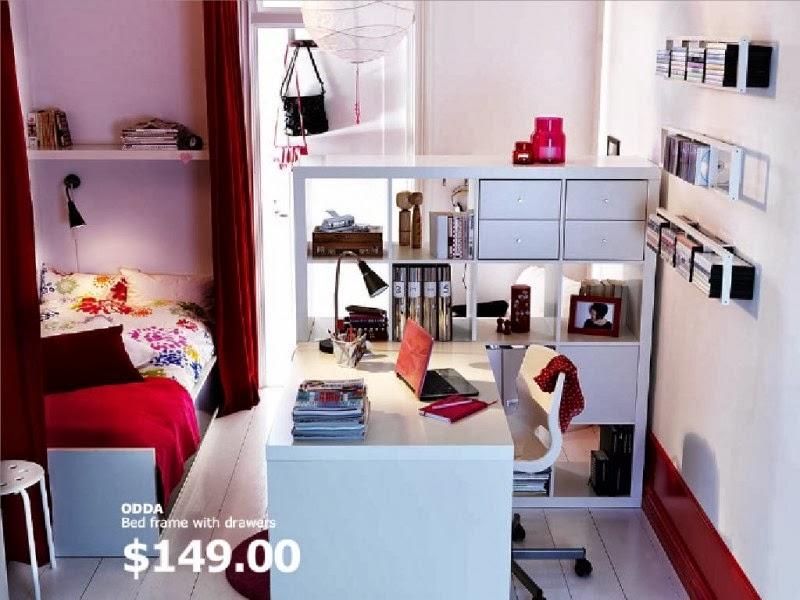 2011 ikea girls bedroom bed frame with drawer for dorm room decorating