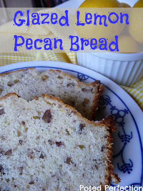 Glazed Lemon Pecan Bread is the perfect treat for your brunch table or as an afternoon pick-me-up with a cup of coffee! Just the right balance of sweet and tart!