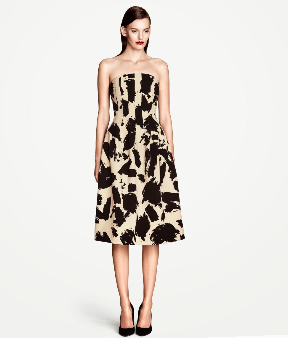 monokrom+elbise H & M 2014 Sommer Kleidung Models