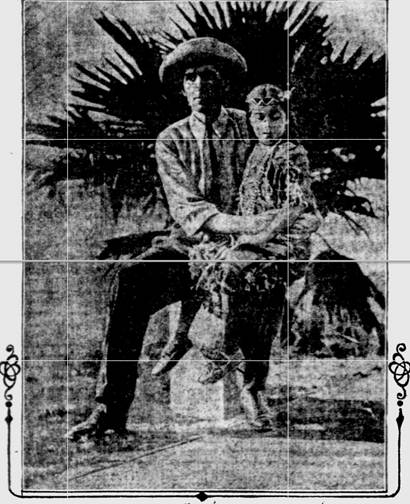 James Francis Dwyer with his daughter Glory, c. 1912