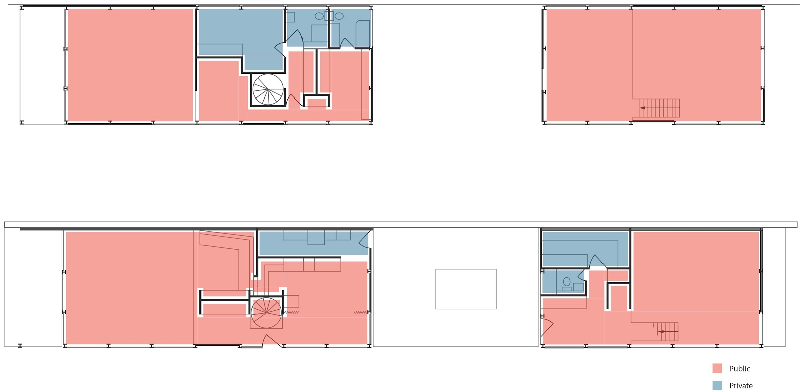 Eames House Public Private Spaces