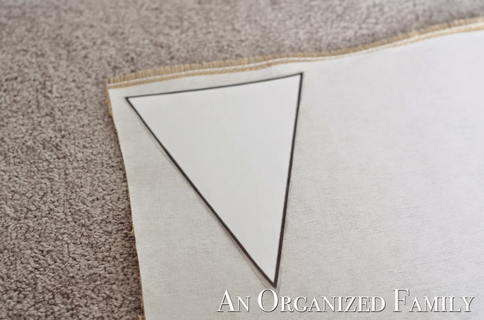 Layout Your Triangle Template And Trace With A Marker Or Pencil Alternate The Way Faces To Maximize Space