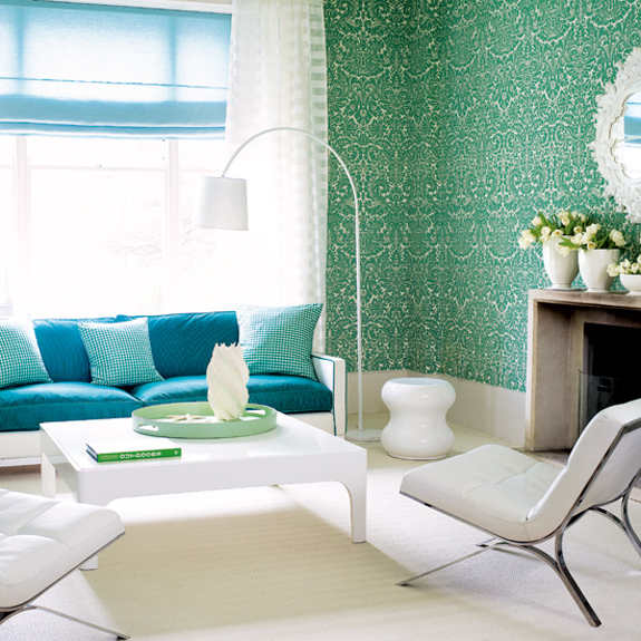 Blue green decor accents interiors b a s blog for Green and blue living room decor