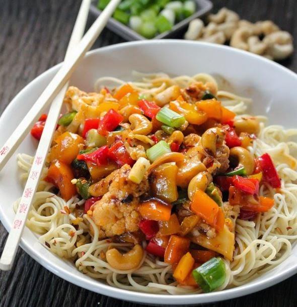 Coliflor, salsa, KUNG PAO, recetas, recetas caseras, verduras,