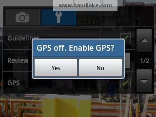Pengaturan GPS pada Camera
