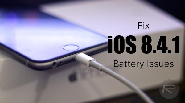 Khắc phục iPhone, iPad nhanh hết pin trên iOS 8.4.1