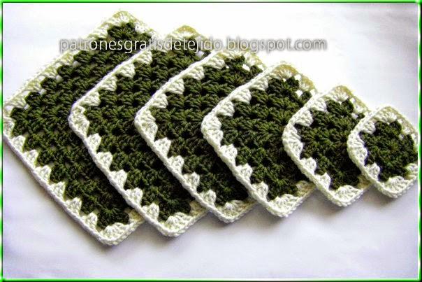 Hermoso y fácil árbol de navidad al crochet con squares - paso a paso
