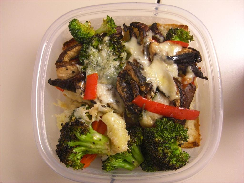 ... , We Ate, We Conquered: Portobello, Broccoli, and Red Pepper Melts