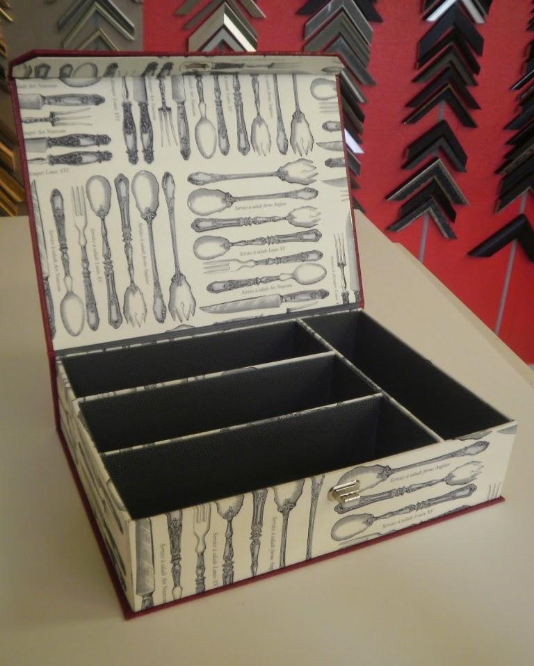 La boite c du cartonnage pour la cuisine - Boite pour ranger les couverts ...