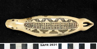Cribbage Board in the shape of a seal